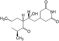Structure Cycloheximide_cryst. pure