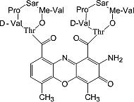 Structure Actinomycin D_cryst. research grade