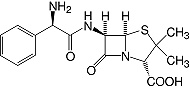 Structure Ampicillin trihydrate_research grade, Ph. Eur.