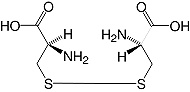 Structure L-Cystine_research grade, Ph. Eur.