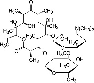Structure Erythromycin base_research grade, Ph. Eur.