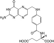 Structure Folic acid_cryst. research grade, Ph. Eur.