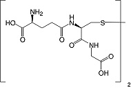 Structure L-Glutathione (oxidized form)_cryst. research grade