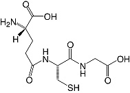Structure L-Glutathione (reduced form)_cryst. research grade