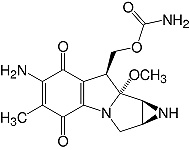 Structure Mitomycin C_lyophil. research grade