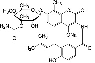 Structure Novobiocin·Na-salt_research grade