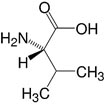 Structure L-Valine_research grade, Ph. Eur.
