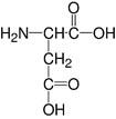 Structure L-Aspartic acid_research grade, Ph. Eur.